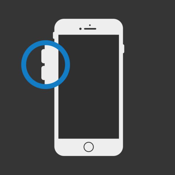 iPhone 8 Lautstärketasten