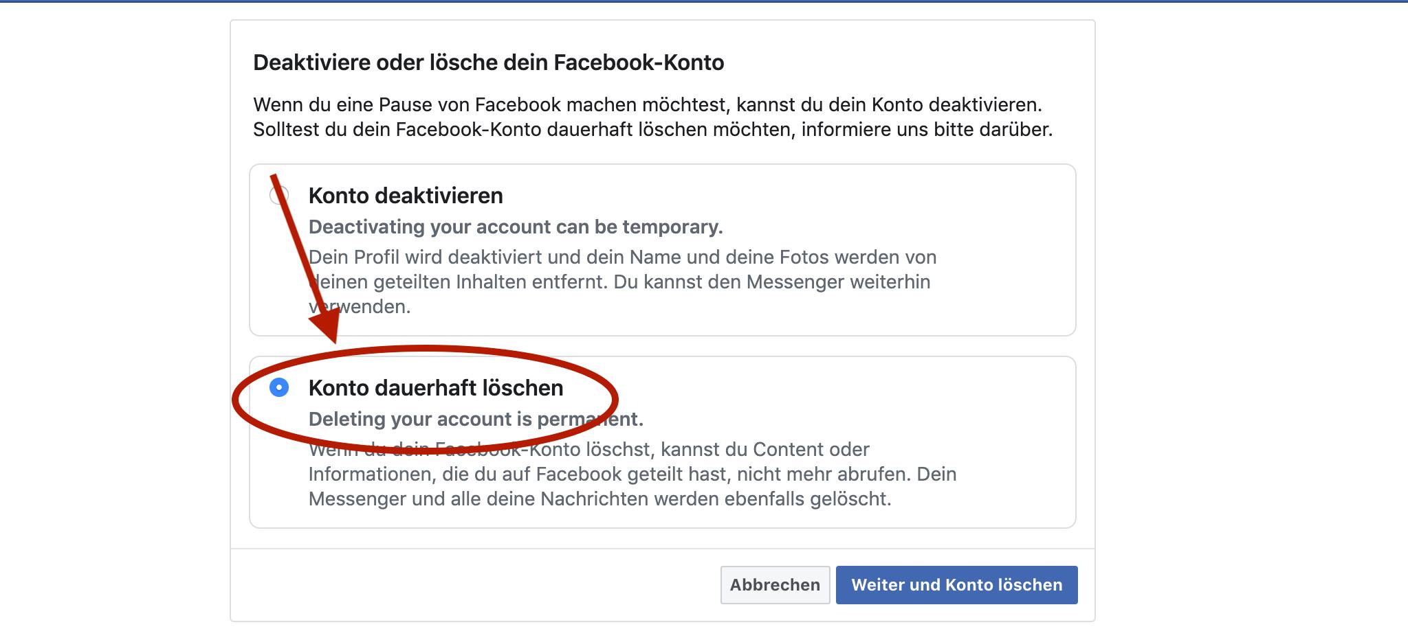 Facebook Eintrag Löschen